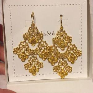 Stella & Dot lace earrings